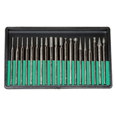 Diamond Point Bit Set 20 Pieces - 180 Grit
