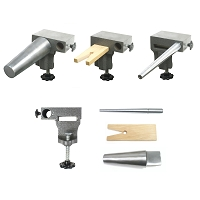 Bench Anvil Combo Kit - Round Bracelet and Ring Mandrels, Anvil, V Slot Bench Pin