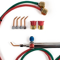 Gentec Small Torch Oxy/Acetylene kit 6 foot hoses with tips #2-6