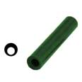 "Ferris Wax, File-A-Wax Ring Tube, Off-Center Hole, Green, 1-1/16"" Diameter"
