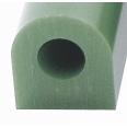 Ferris Wax, File-A-Wax Ring Tube, Flat Side With Hole, Green, 1-5/16x1-3/16""