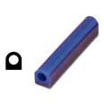 Ferris Wax, File-A-Wax Ring Tube, Flat Side With Hole, Blue, 1-1/8x1-5/8""