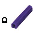 Ferris Wax, File-A-Wax Ring Tube, Flat Side With Hole, Purple, 1-1/8x1""