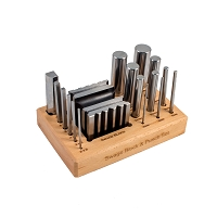 Swage Block & Punch Set With Wood Stand