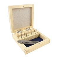 Tap and Die Set 15 pcs. In a Wooden Box