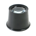 Plastic Eye Loupe (Black) 10x