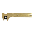 Brass Slide Gauge With Plate - 100mm