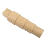 Bracelet Mandrel Wood - Round Stepped