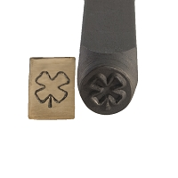 Four Leaf Clover Stamp 6 mm