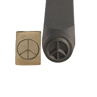 Peace Sign Stamp 6 mm