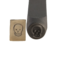 Skull Design Metal Stamp 6 mm