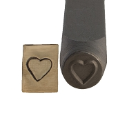 Heart Stamp 6 mm