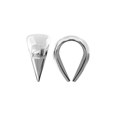 Medium White Gold OPEN Cast Bail - 14KT
