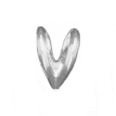 Rabbit Ear Bail Heavy Extra Large 14K White Gold