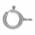 Spring Rings -  Chain Links Sterling Silver 10 pack