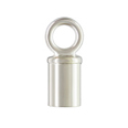 Tube Endcap w/Ring Sterling Silver 3.0mm 2pcs.