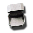Octagonal  Rich Soft Suede Earring Box