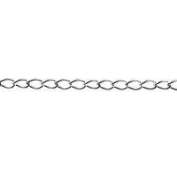 Sterling Silver Curb Chain by the Foot - 3 mm