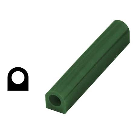 Ferris Wax, File-A-Wax Ring Tube, Flat Side With Hole, Green, 1-1/8x1-5/8""