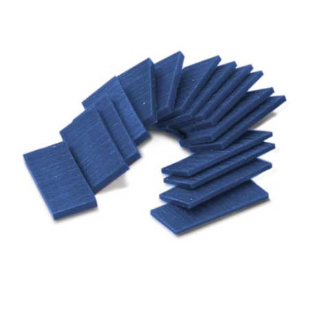 Ferris Wax, File-A-Wax, Wax Slices, 1/2 lb, Blue