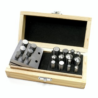 Deluxe Disc Cutter and Doming Set with 21 Punches