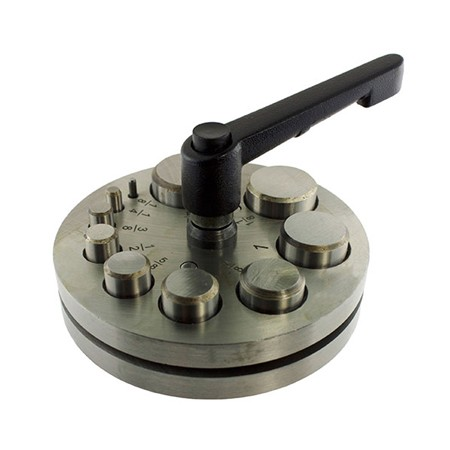 Jeweler S Metal Disc Cutter Circle Punch Tool Set 10 Punches