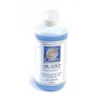 18K Gold Plating Solution -  Bath Plating 1 Quart