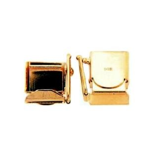 Clasp - Hidden Box w/Safety Catch 14K Yellow Gold