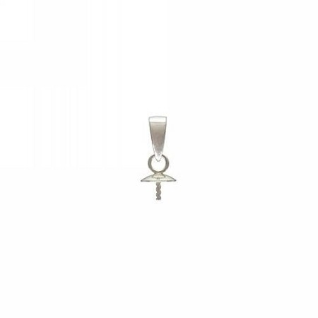 Screw Eye with attached Bail - 5.0mm Cap Sterling Silver