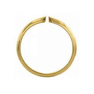 Ring Shanks - 4-Prong Half Round 14K Yellow Gold