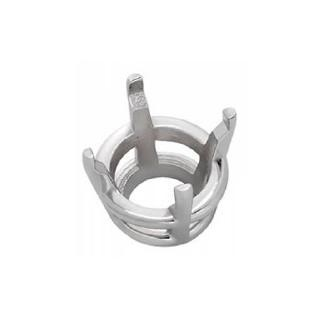 4 Prong Round Basket Setting 14K White Gold