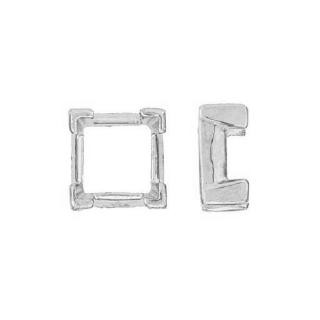 Square Head Setting w/V-Ends 14K White Gold
