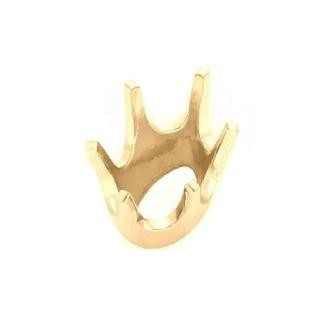 6-Prong Oval Head Jewelry Setting 14K Yellow Gold