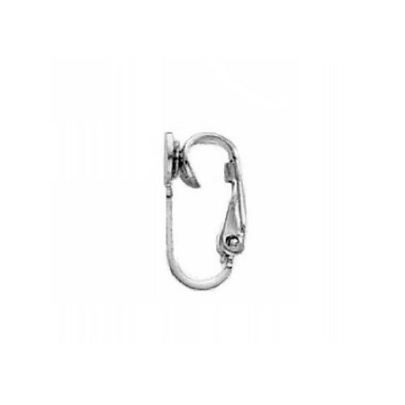 Ear Clip 5mm Dapped Pad Sterling Silver