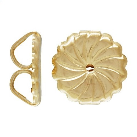 Earring Backs (9.2x9.4mm) Jumbo Swirl Gold Filled - 10pcs.