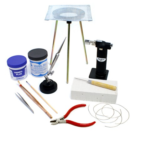 Standard Jewelry Soldering Kit with Silver Solder Wire