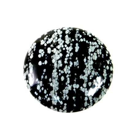 Snowflake Obsidian Cabochon Round 30mm