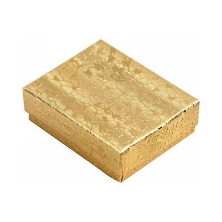 "Cardboard Jewelry Gift Boxes Gold Tone 2-5/8""x1-1/2"" 100pcs."