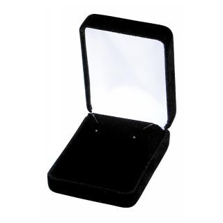 Jewelry Gift Boxes - Black Velvet Earring Box