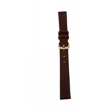 Ladies Brown Genuine Leather Watch Band 14mm