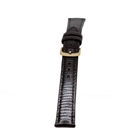 Ladies Black Lizard Grain Watch Band 14mm