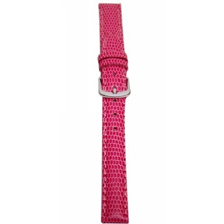 Ladies Pink Java Lizard Grain Watch Band 14mm