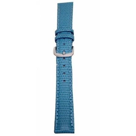 Ladies Light Blue Java Lizard Grain Watch Band 16mm