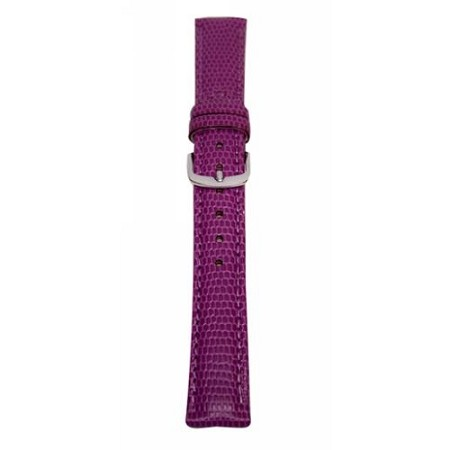 Ladies Purple Java Lizard Grain Watch Band 16mm