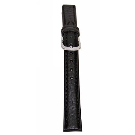 Ladies Black Genuine Leather Watch Band 13mm