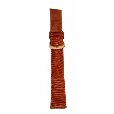 Men's Brown Lizard Grain Watch Band 20mm Regular