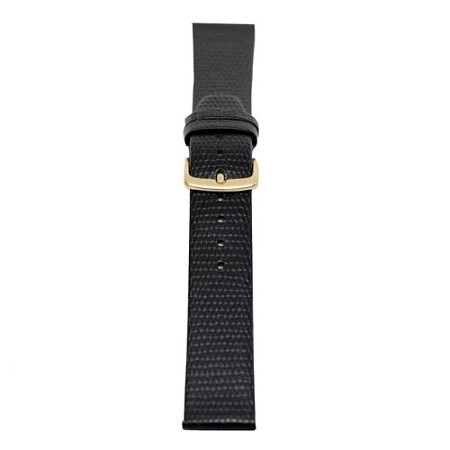 Mens Black Java Lizard Grain Watch Band 18mm Regular