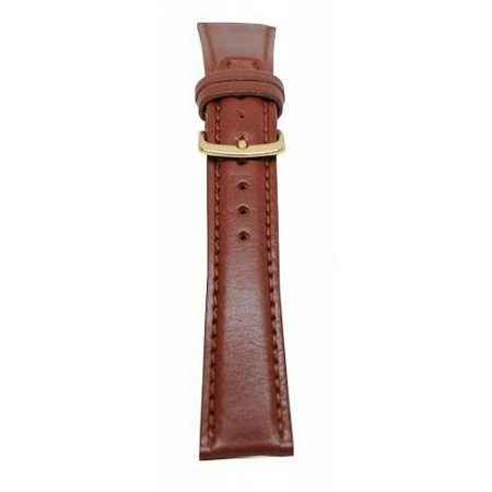 Men's Brown Genuine Leather Watch Band 18mm