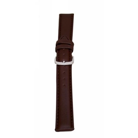 Men's Brown Genuine Leather Watch Band 18mm Regular