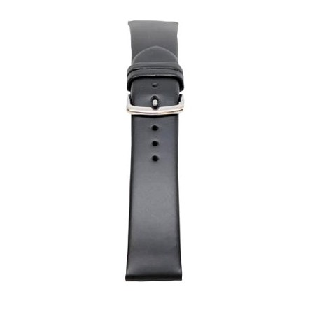 Men's Black Oil Tan Leather Watch Band 18mm